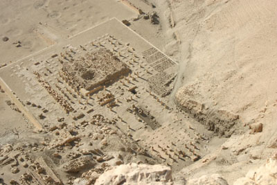 Overhead view of the Mentuhotep Temple