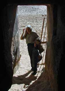 Gayle Gibson at one of the private tombs at Giza