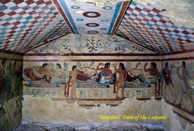 Tarquinia.Tomb of the Leopards